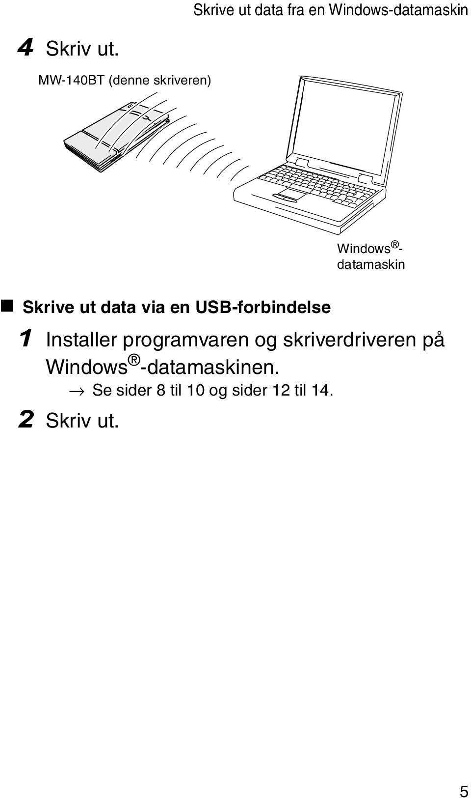 via en USB-forbindelse 1 Installer programvaren og