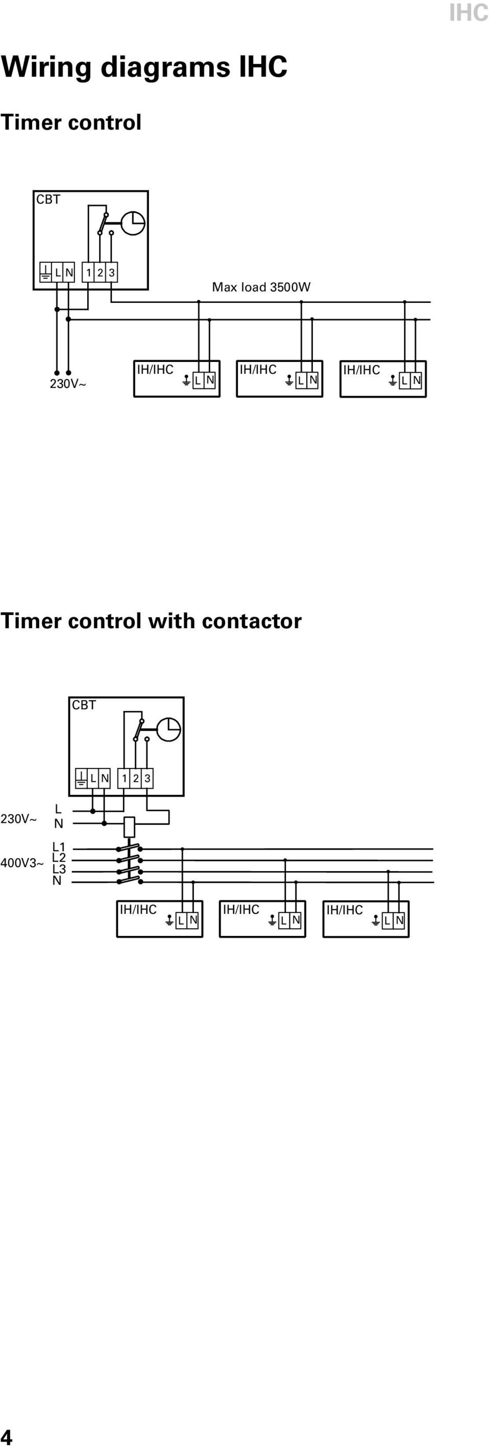 Timer control with contactor CBT