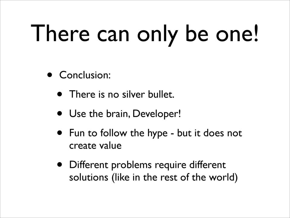 Use the brain, Developer!