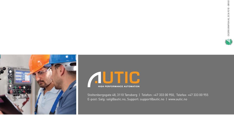 Salg: salg@autic.no, Support: support@autic.