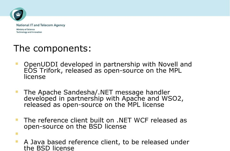 NET message handler developed in partnership with Apache and WSO2, released as open-source on the