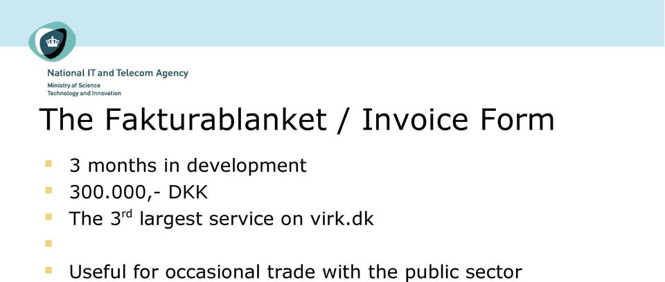 000,- DKK The 3rd largest service on