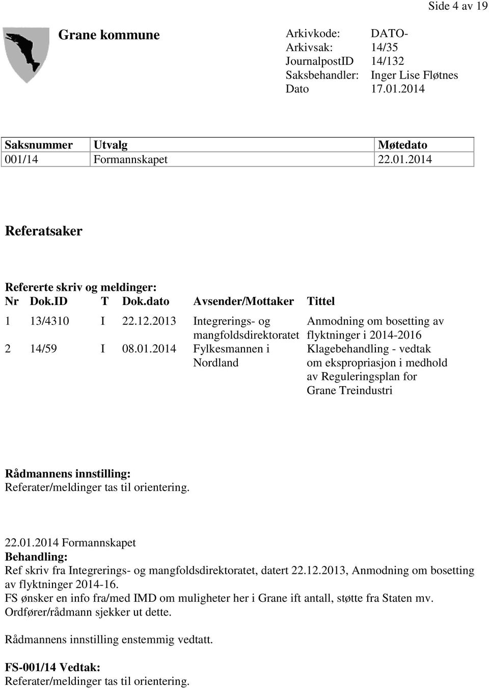 Integrerings- og mangfoldsdirektoratet 2 14/59 I 08.01.