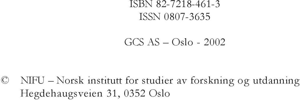 institutt for studier av forskning