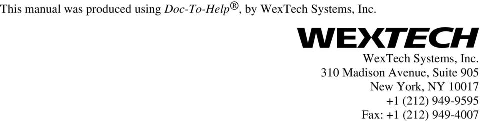 WexTech Systems, Inc.