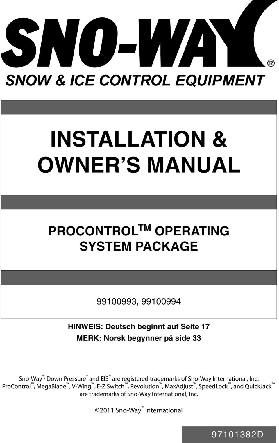 INSTALLATION & OWNER S MANUAL - PDF