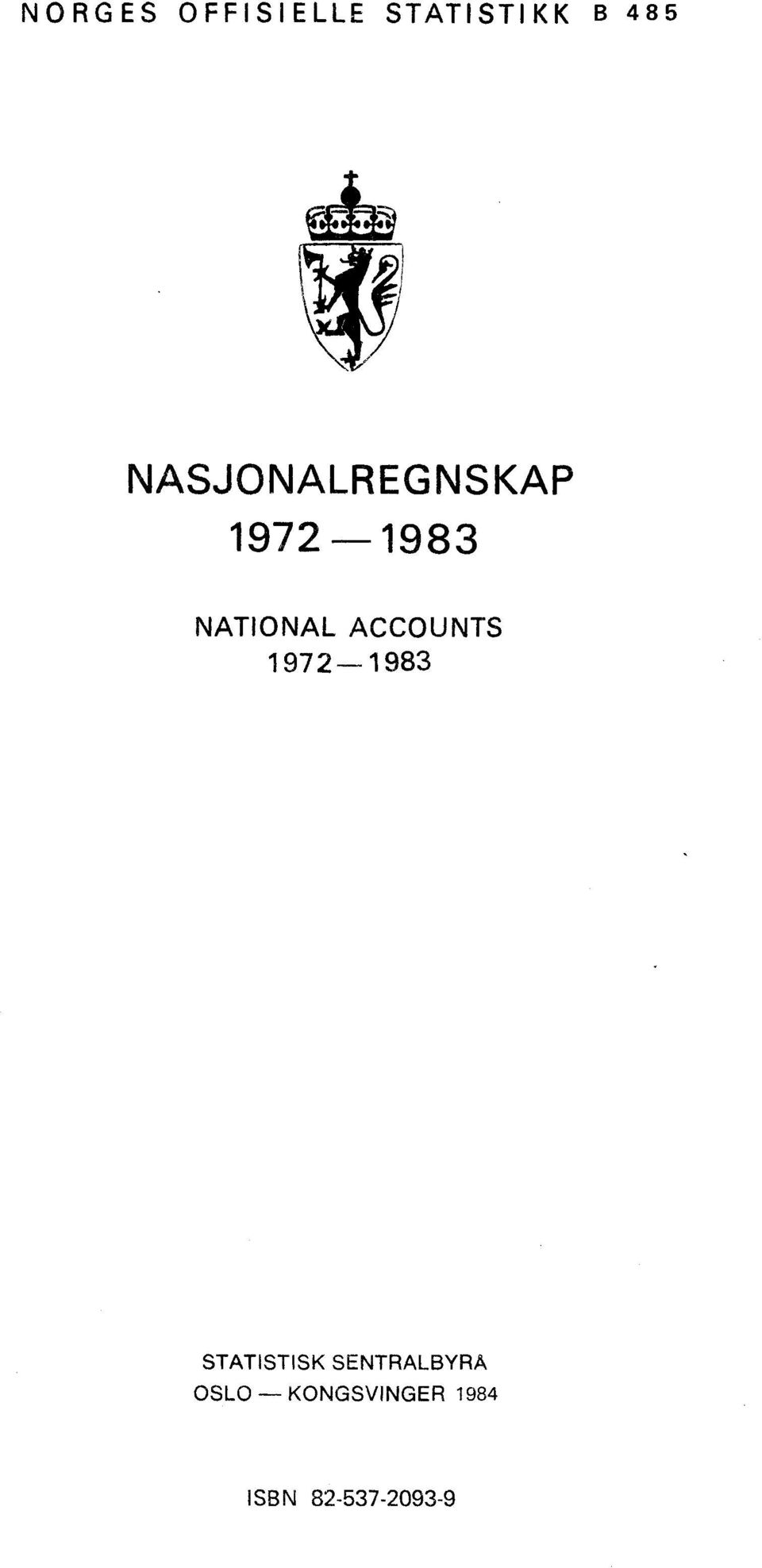 ACCOUNTS 1972-1983 STATISTISK