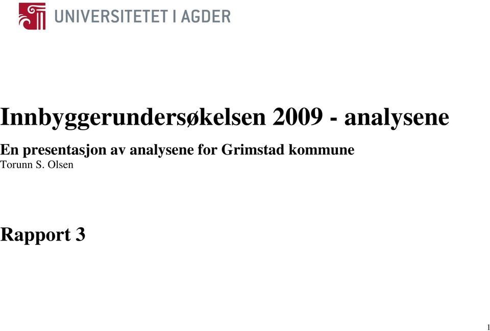 analysene for Grimstad