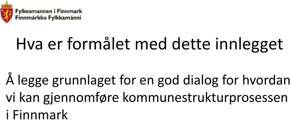 en god dialog for hvordan vi kan