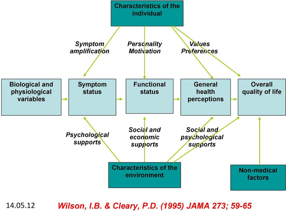 Overall quality of life Psychological supports Social and economic supports Social and psychological