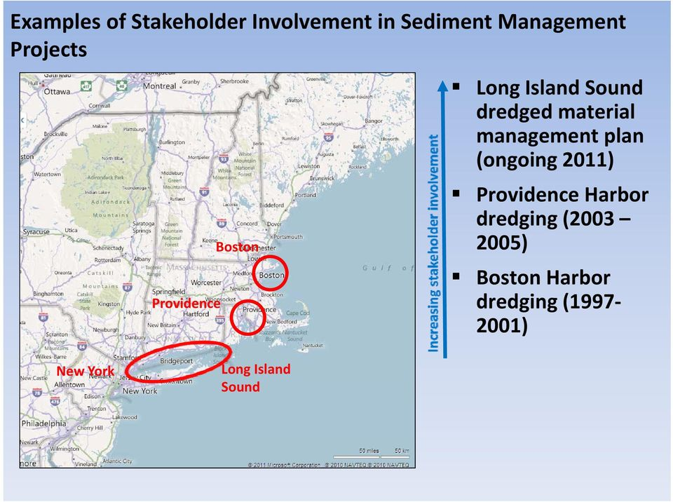 management plan (ongoing 2011) Providence Harbor dredging (2003