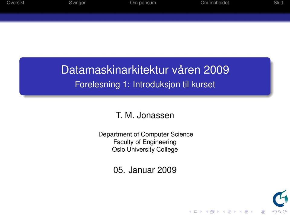 Jonassen Department of Computer Science