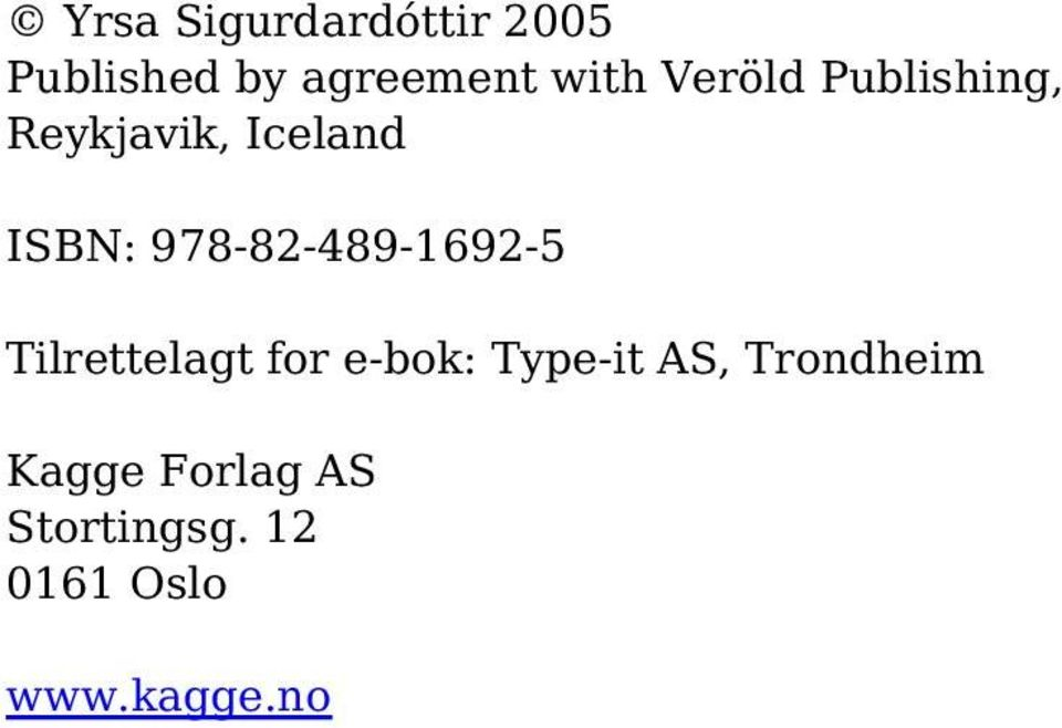 978-82-489-1692-5 Tilrettelagt for e-bok: Type-it AS,
