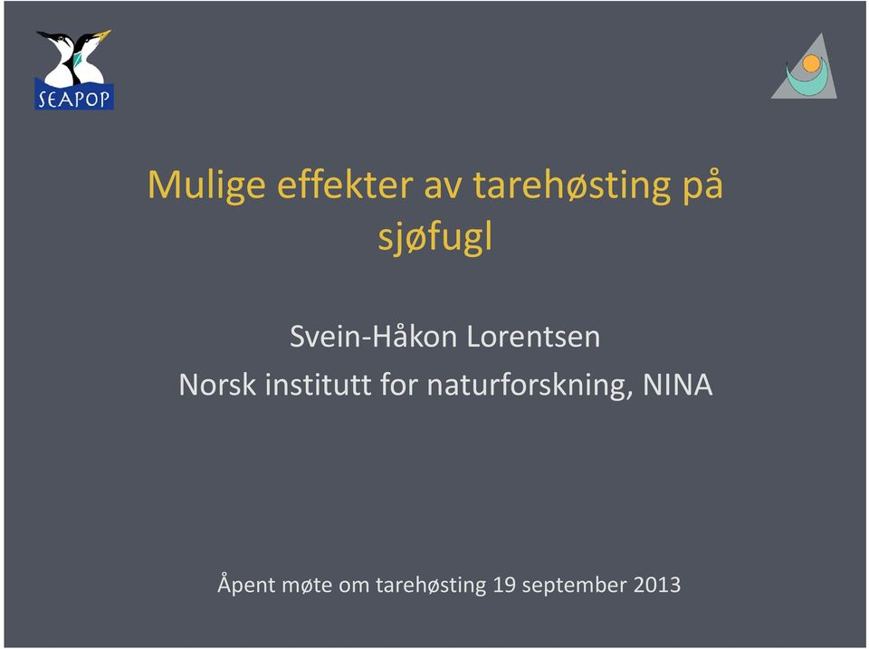 institutt for naturforskning, NINA