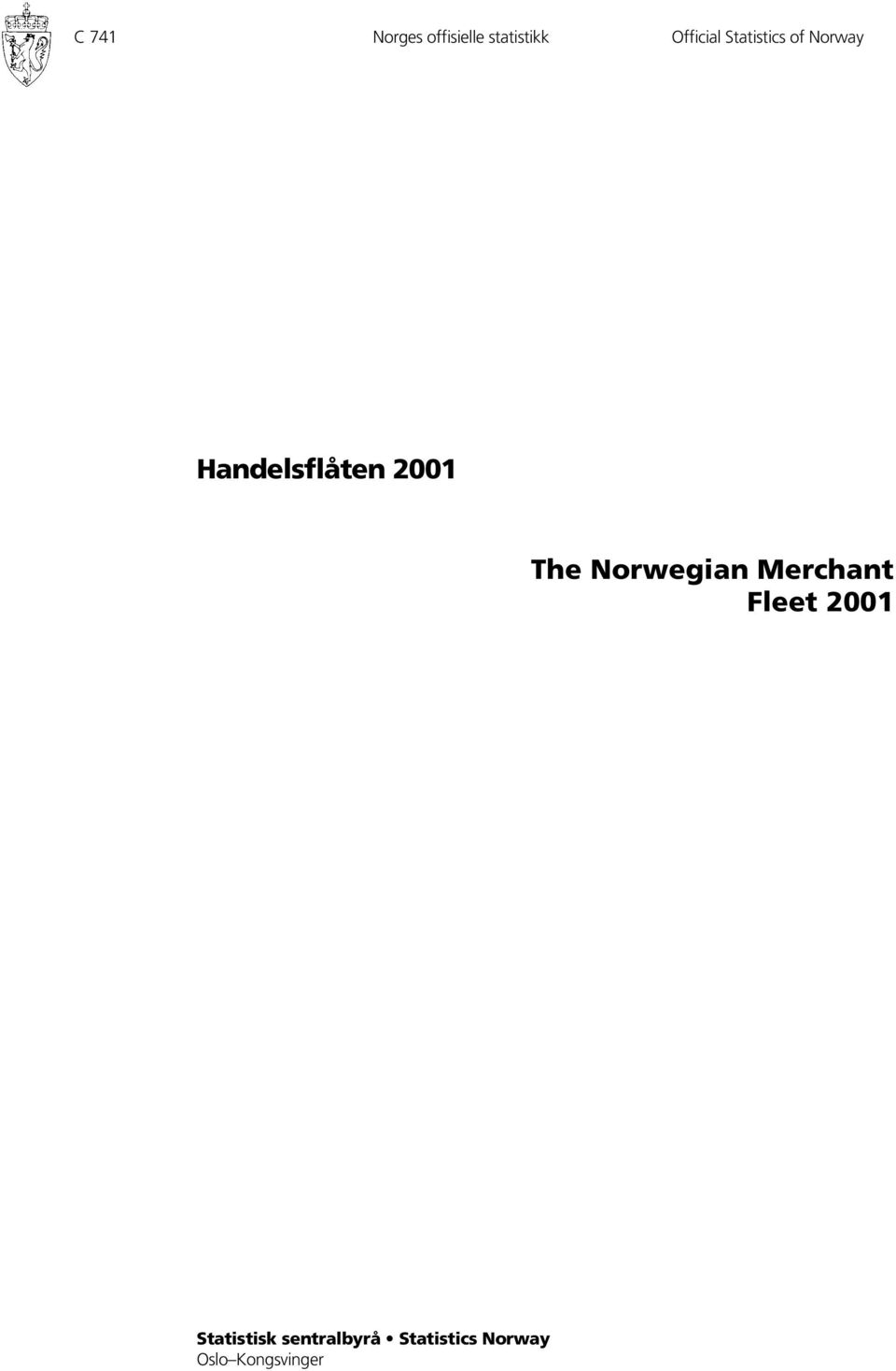 Norwegian Merchant Fleet 2001 Statistisk