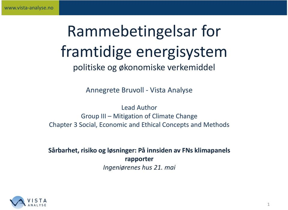 Change Chapter 3 Social, Economic and Ethical Concepts and Methods Sårbarhet,