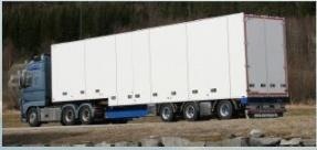 Present status 2 lorry s operational carrying groceries from Trondheim to
