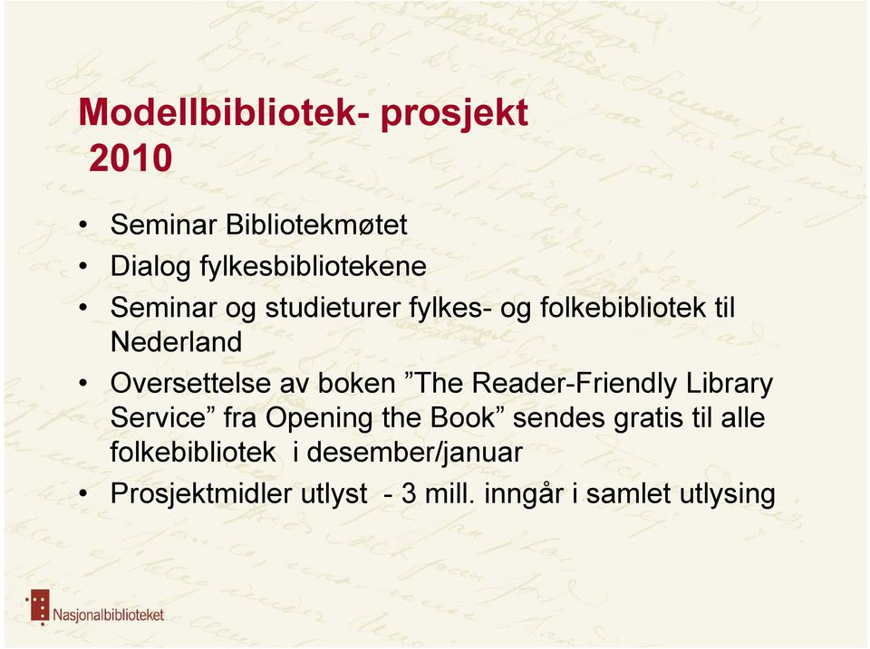 boken The Reader-Friendly Library Service fra Opening the Book sendes gratis til