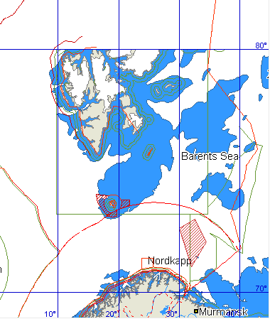 Barents Sea Monitoring Program real time closures Closed areas for shrimp