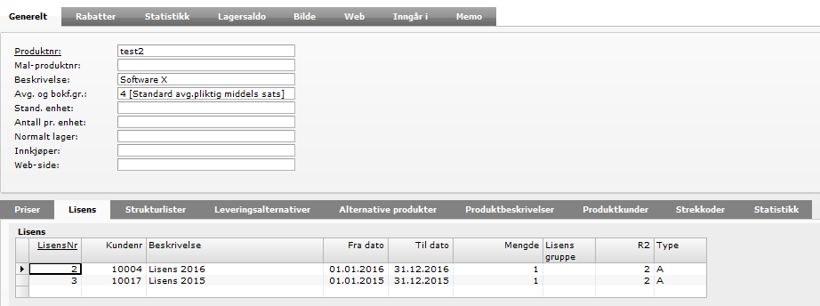 Visma Data Model Extension (DME): Her er det laget en ny tabell :