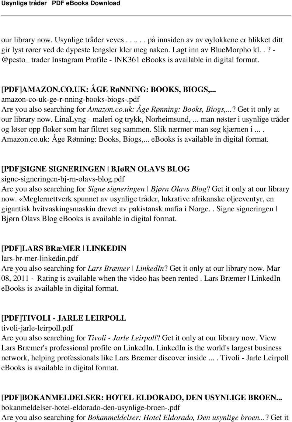 pdf Are you also searching for Amazon.co.uk: Åge Rønning: Books, Biogs,...? Get it only at our library now. LinaLyng - maleri og trykk, Norheimsund,.