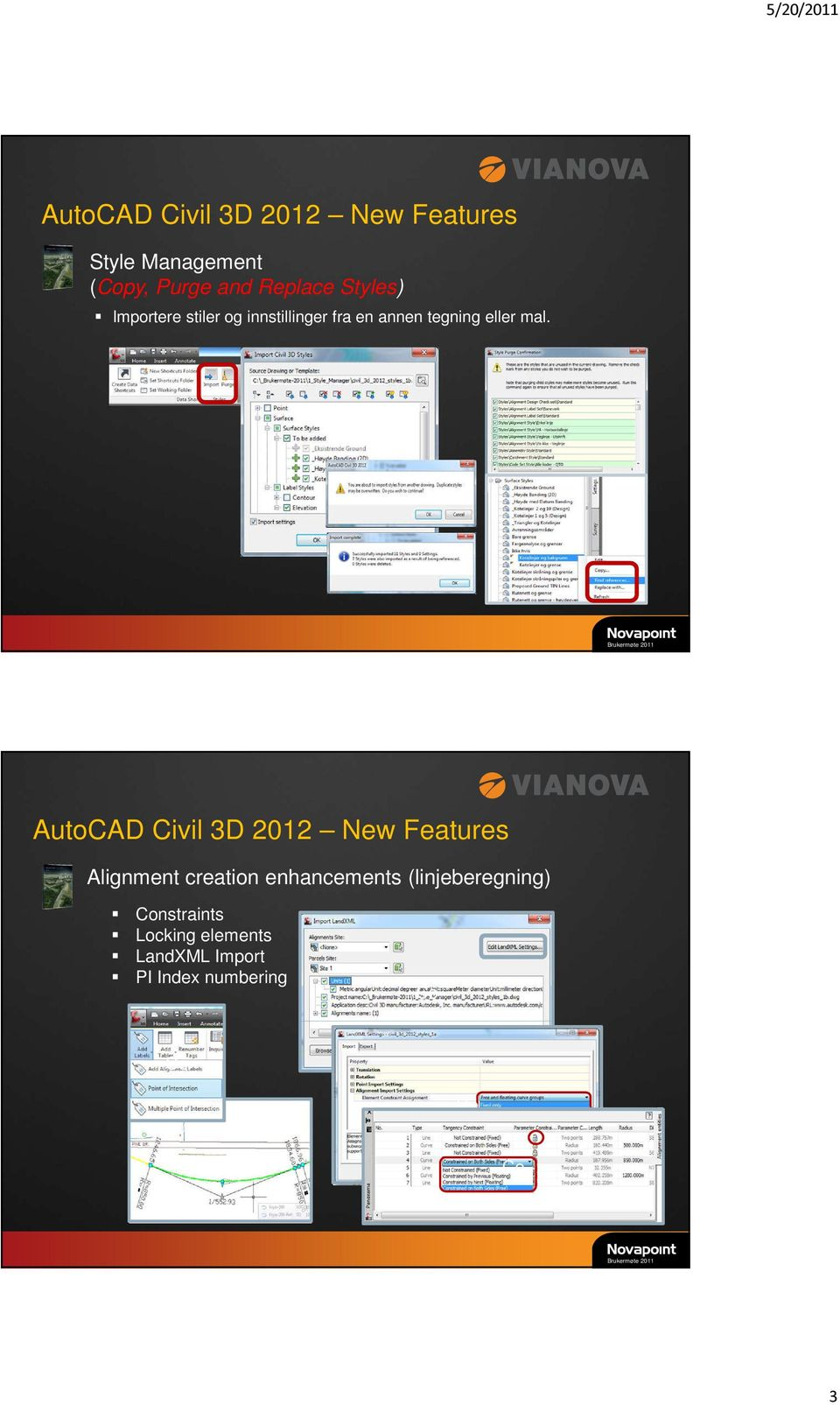 AutoCAD Civil 3D 2012 New Features Alignment creation enhancements