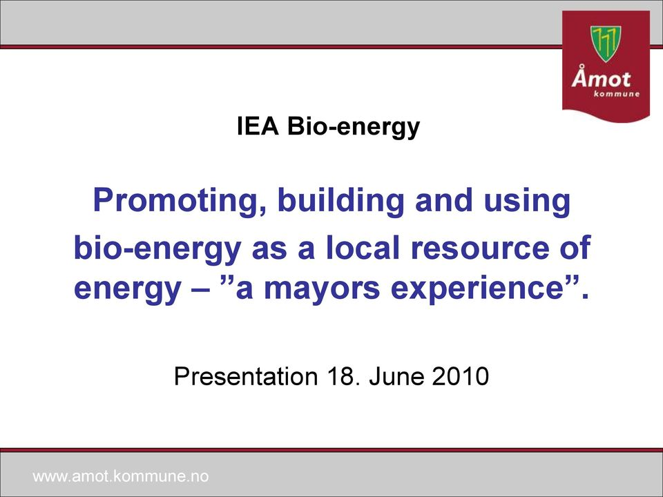 a local resource of energy a