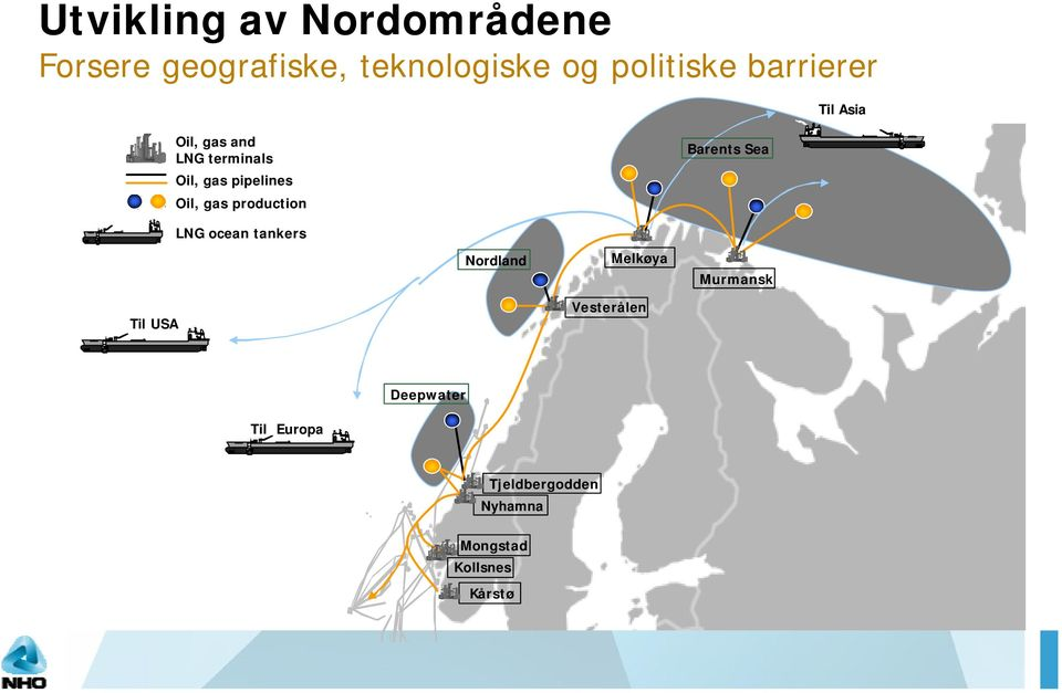 production Barents Sea LNG ocean tankers Nordland Melkøya Murmansk Til USA