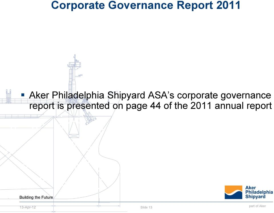 governance report is presented on
