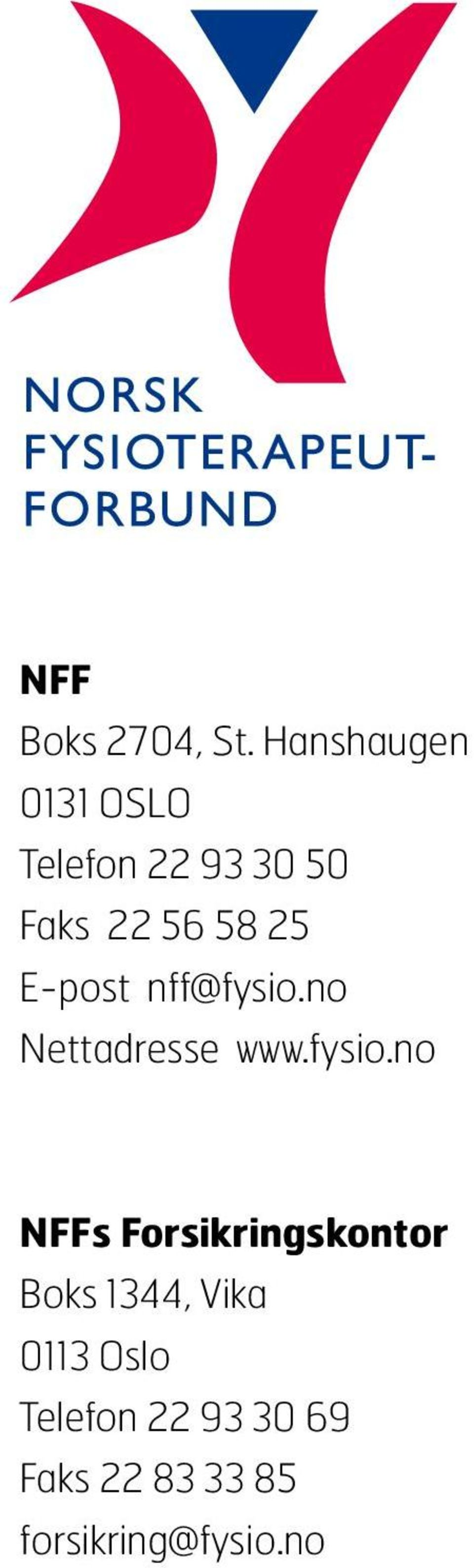 25 E-post nff@fysio.