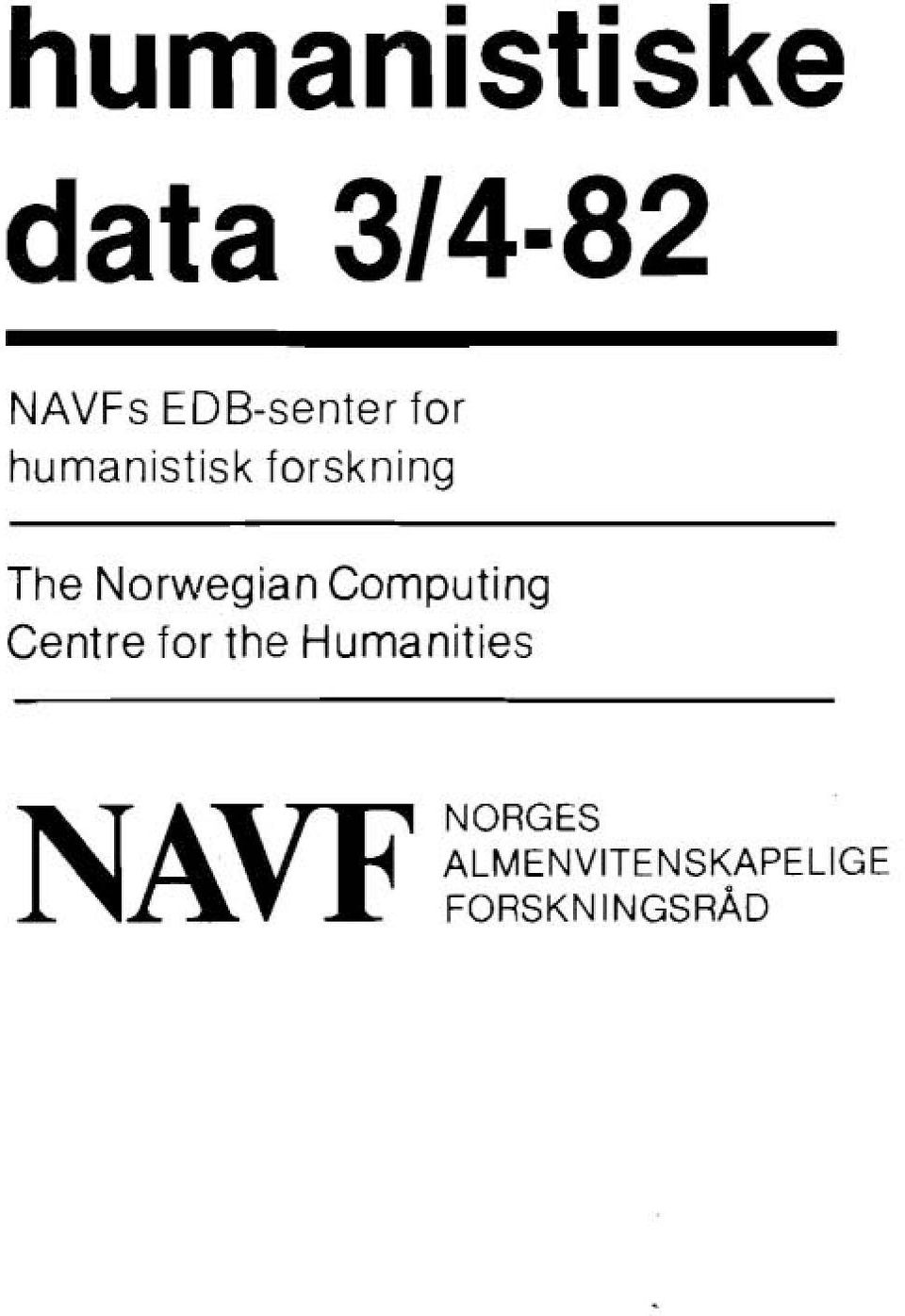 Computing Centre for the Humanities NAVF