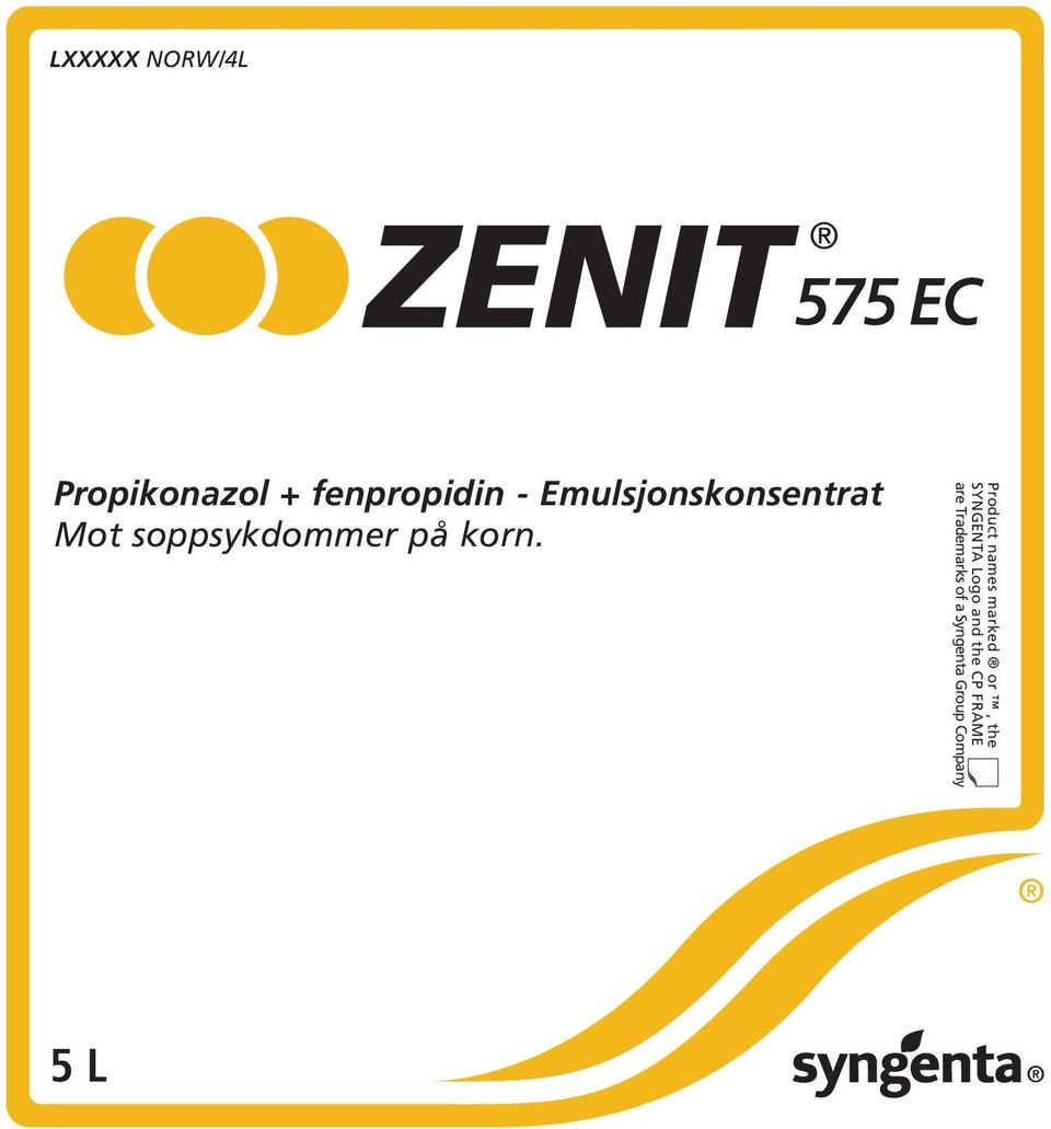 Product names marked or, the SYNGENTA Logo and
