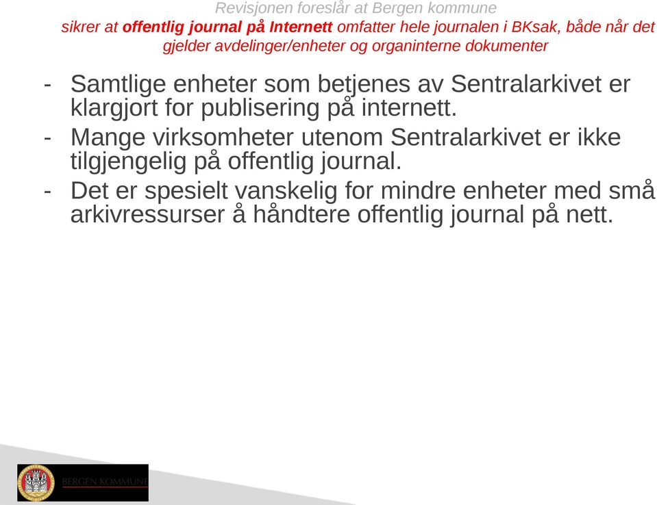 klargjort for publisering på internett.
