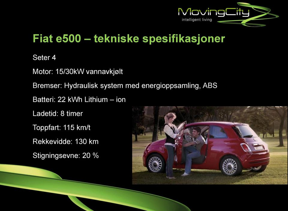 energioppsamling, ABS Batteri: 22 kwh Lithium ion