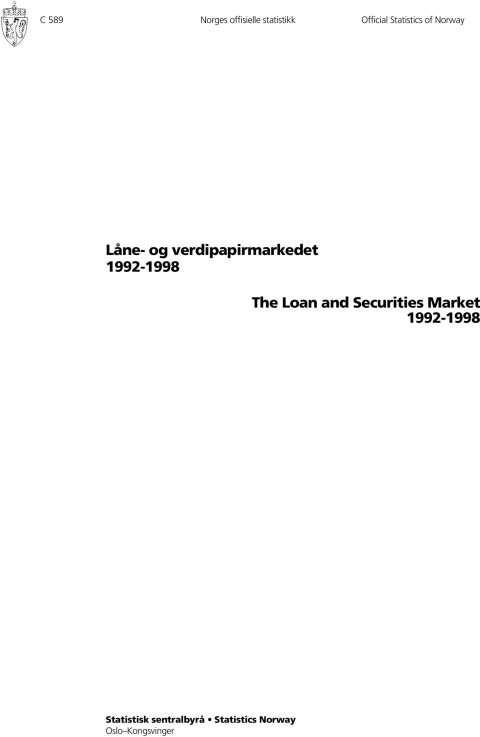 992-998 The Loan and Securities Market 992-998