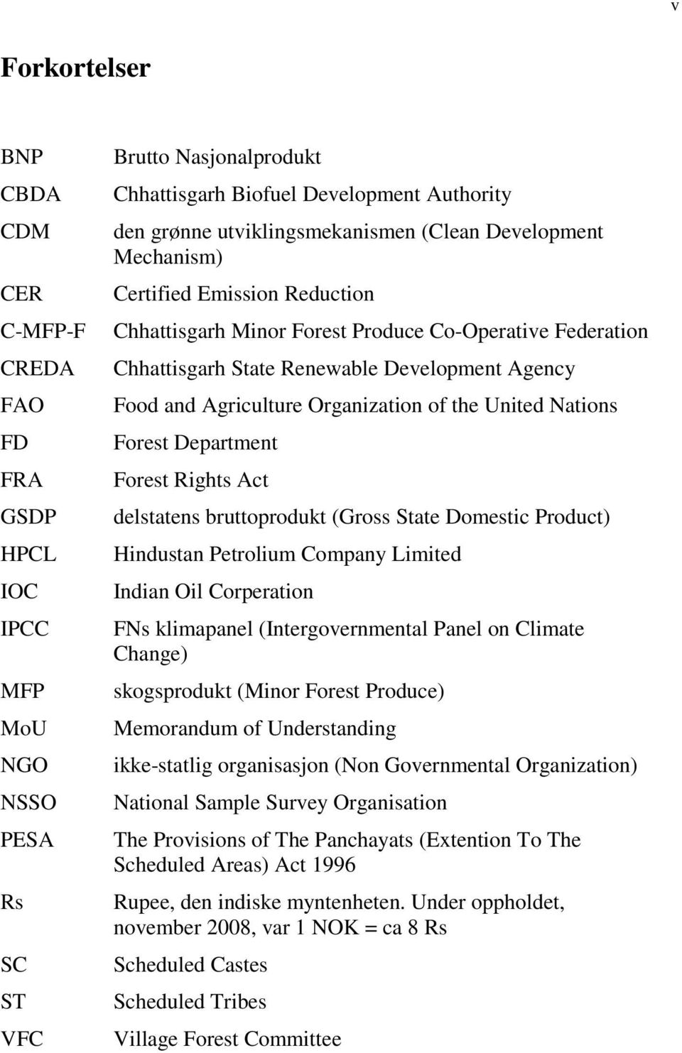 Agriculture Organization of the United Nations Forest Department Forest Rights Act delstatens bruttoprodukt (Gross State Domestic Product) Hindustan Petrolium Company Limited Indian Oil Corperation