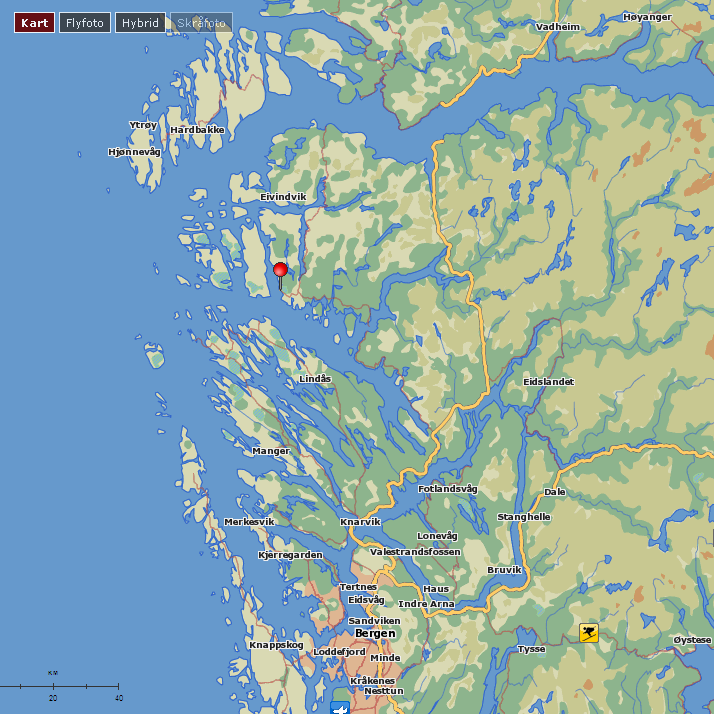 Location of Brandangersundet bridge: The bridge location is in Gulen community, South of Sognefjorden and North of Bergen at the West coast of Norway The bridge is