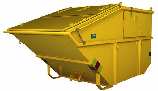 Kombi liftcontainer m3 Vegg, mm.