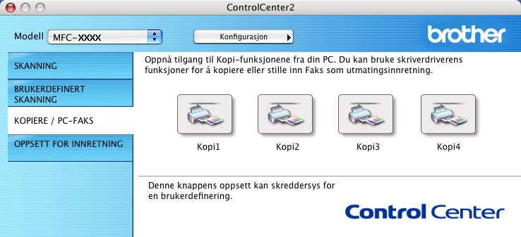 9. ControlCenter2 (For Mac OS 10.2.4.
