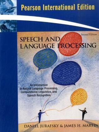 Pensumlitteratur Speech and Language Processing: an Introduction to Natural Language Processing,