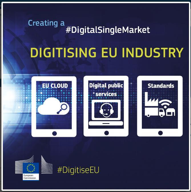 EUs digitale agenda We stand on the brink of a new industrial revolution, driven by new-generation information technologies such as the Internet of Things (IoT), cloud computing, big data and data