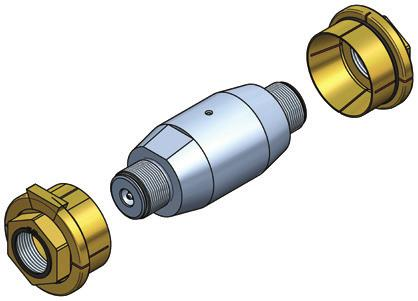 2/ Prepare the bondura assembly by removing the conical sleeve/nut assembly and seeger ring. Klargjør bondura sammenstillingen ved å demontere konhylse/ mutter sammenstillingen og seeger ringen.