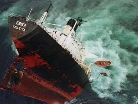 Background Erika was the name of a tanker built in 1975. She sank off the coast of France in 1999, causing a major environmental disaster.