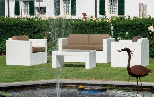 KING LOUNGE Set Bianco