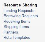 Fjernlånsbestilling fra Resource Sharing > Borrowing Request 1.