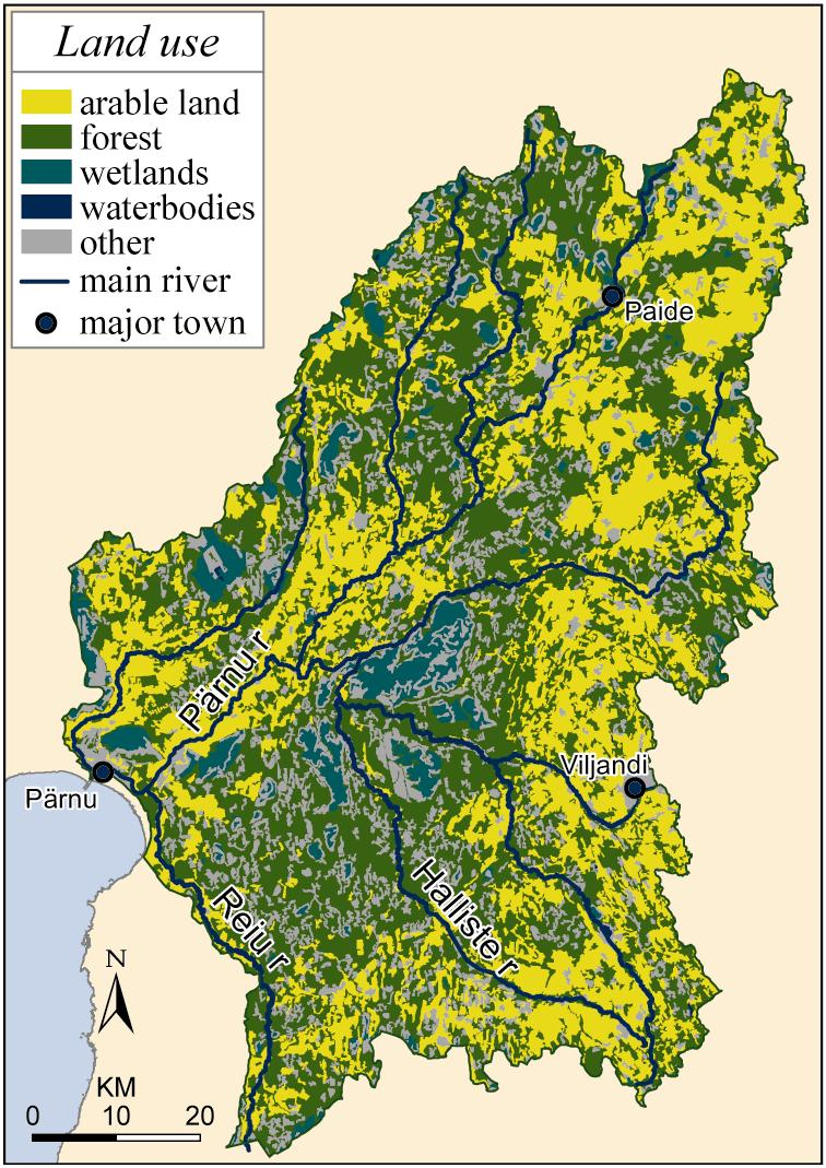 Name of the catchment (km 2 ) Size of the catchment (km 2 ) Parnu, Estonia 6920 Size of the agricultural land (km 2 ) 2346 NutRet OSPAR N P N P tons per year tons per year Stream and river retention