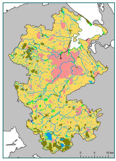 Name of the catchment (km 2 ) Size of the catchment (km 2 ) 1059 Size of the agricultural land (km 2 ) 764 Stream and river retention 374.6 1.2 Wetlands 410 82.