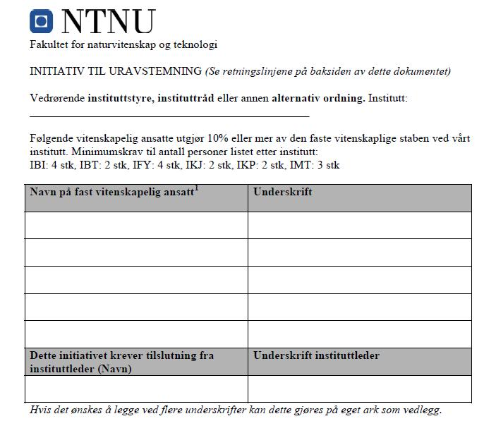 15 Forslag til initiativ for uravstemning,