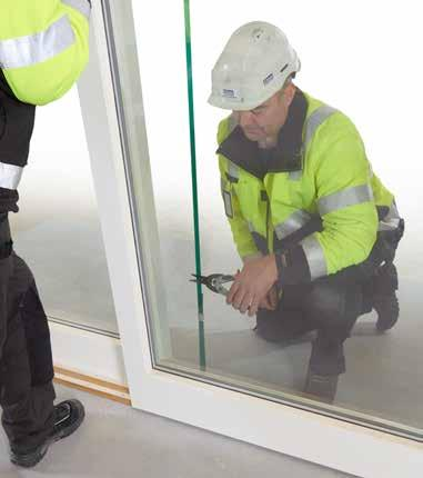 The purpose of the safety strap is to ensure that the door does not come out of its tracks when lifted.