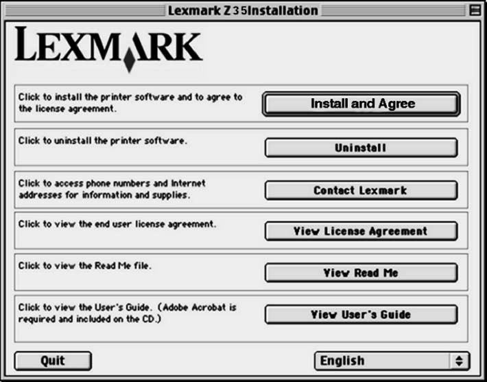 Mac OS 8.6 til 9.2 Gå til side 8 for å installere skriverprogramvaren for Windows på nytt. Gå til side 15 for å installere skriverprogramvare for Mac OS X, versjon 10.0.3 til 10.1. Lukk alle åpne programmer.